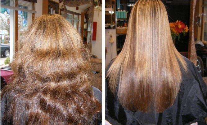 مورد کراتینه کردن مو ها